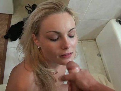 Cum on my girlfriend's face