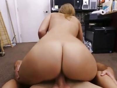 Sweet babe Abby sucking it hard