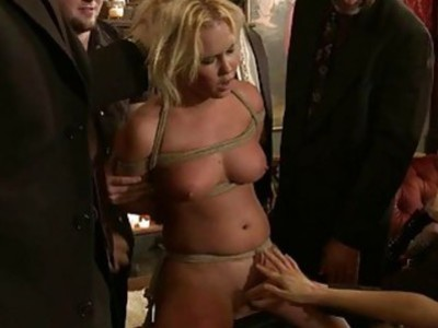 Breathtaking wench is abased sexually in public