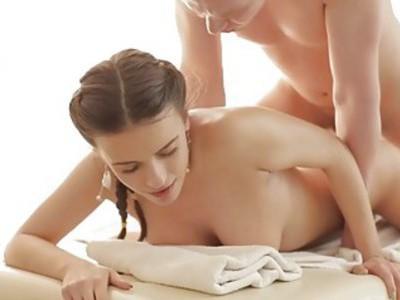 Cute massage girl in ecstacy