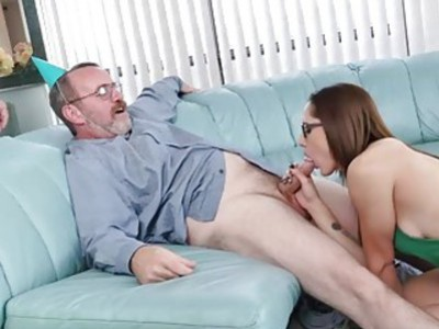 Roger fuck Tracy in the couch doggystyle after the blowjob