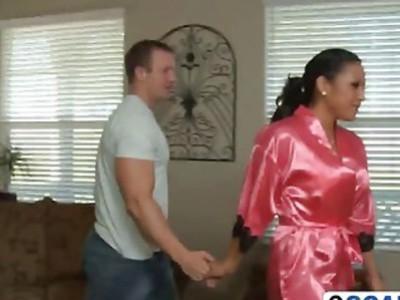 Super hot slut gets nasty with her man in the bathroom