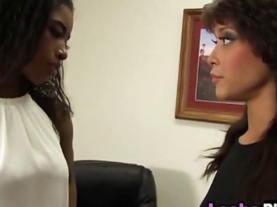 Two Irresistible Ebony Babes In Sensual Pussy Satisfying Action