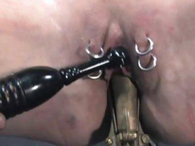 Chained honey needs sexy castigation