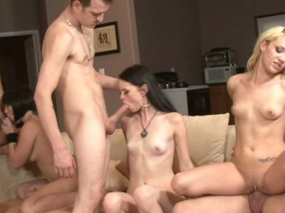 Swinger's party goes dirty and ends up in multiple facial cumshot
