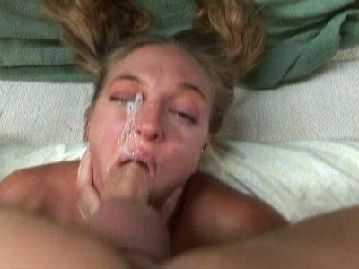 Hardcore throat fucking of kinky blonde bitch Lexi Love