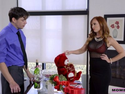 Red haired stepmom Dani Jensen is fucking her handsome stepson