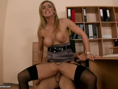 Shameless blonde MILF Tanya Tate rides and fucks doggystyle