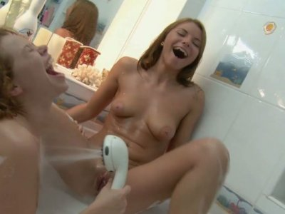 Awesome red heads Allison & Matilda eat pussies in the bath