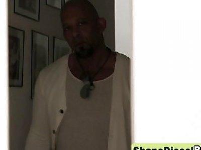 Lonely ebony girlfriend entertained sexy hardcore by monster dick Shane Diesel