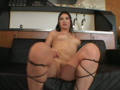 Nasty whore Petty Pol hops on cock and blows another one