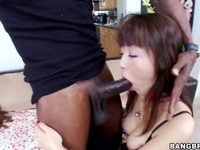 Petite Asian gal Marica Hase fucked by black man