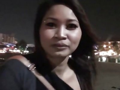 Busty Thai girl pounded hard by a white dude