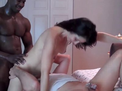Cuckold watches his wife getting smashed by black hunk interracial