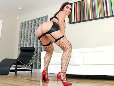 Valentina Nappi flaunts her stupendous ass, trimmed twat and big boobs