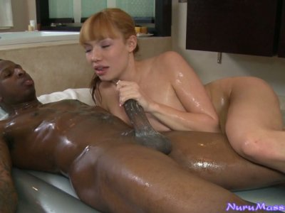 Sexy and busty whore Maya Hill pleases the cock of dark skinned dude