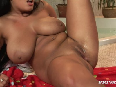 Busted Jasmine Black has a double creampie