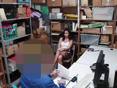Geneva King suck the LP Officers meat while her dad watch