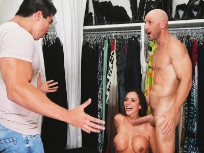 MILF fucked at a clothing store