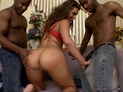 Bunny boiler girl Naomi Russell getting fucked by two ebony studs