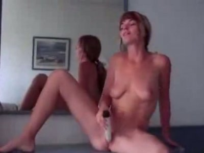 Tall slim chick tickles her fancy and wins a dick for a stout blowjob