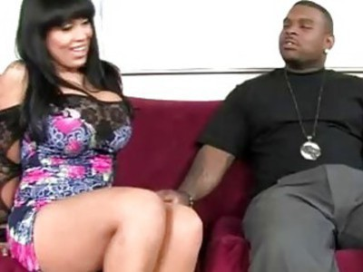 Black thug went horny for big stacked brunette MILF