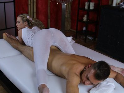 Body needs taking care by a sexy blondie